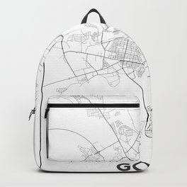 Minimal City Maps - Map Of Gomel, Belarus. Backpack