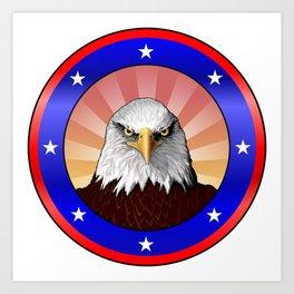 All American Bald Eagle Art Print