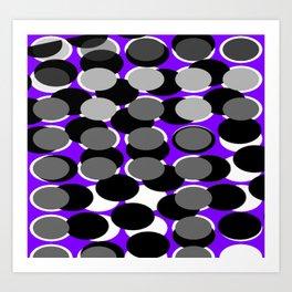 Purple Dot Art Print