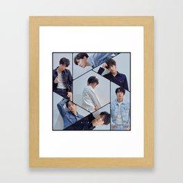 BTS in Blue Framed Art Print