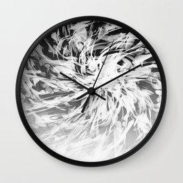 B&W Abstract Spiral Wall Clock