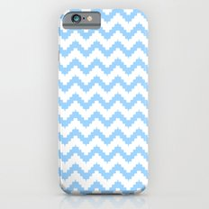 funky chevron blue pattern iPhone 6s Slim Case
