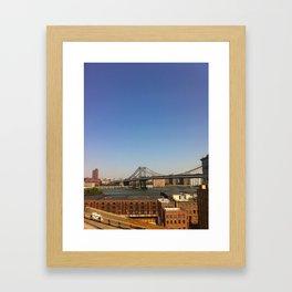 Manhattan Bridge Framed Art Print