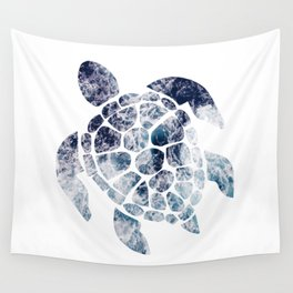 Sea Turtle - Blue Ocean Waves Wall Tapestry