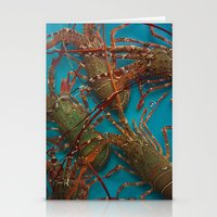 lobster Stationery Cards featuring Lobster by comma black
