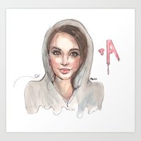 pretty little liars Art Prints featuring Pretty Little Liars by deepfriedfreckles