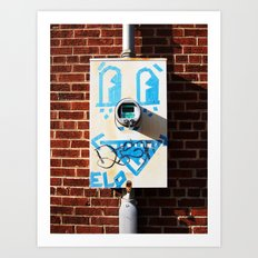 Tape Face Art Print