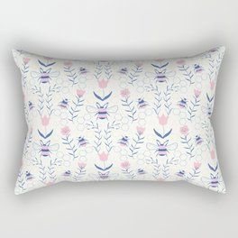 Bee Garden Pattern Rectangular Pillow