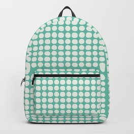Along the Rio Grande: Turquoise Lattice Coordinate Print Backpack
