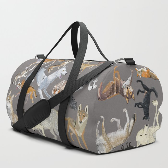 Wolves_of_the_world_1_Duffle_Bag_by_Belette_Le_Pink__SET_OF_3
