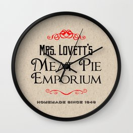 Mrs. Lovett's Meat Pie Emporium (Sweeney Todd) Wall Clock