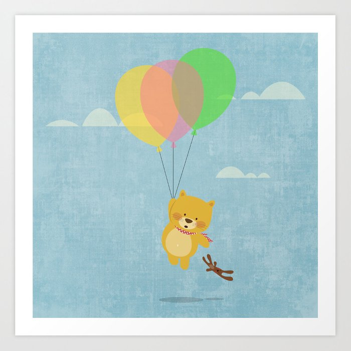 I can fly! Art Print