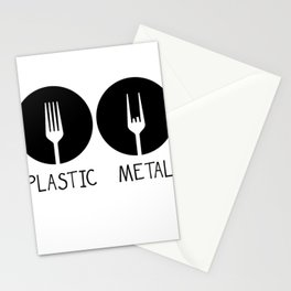 Metal French Fry Fork Devil Horns Festival Gift Stationery Cards