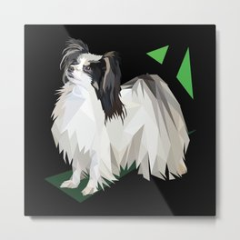 Papillon (Butterfly Dog) Metal Print
