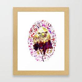 Grunge Eagle Sketch Framed Art Print