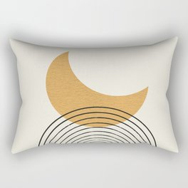 Moon mountain gold - Mid century style Rectangular Pillow