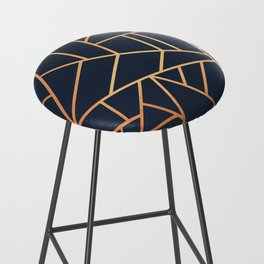 Copper and Midnight Navy Bar Stool