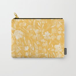Upside Floral Golden Yellow Carry-All Pouch