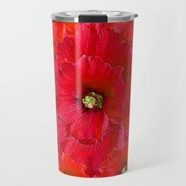 AWESOME RED FLOWERS BOUQUET PATTERN ABSTRACT ART Travel Mug
