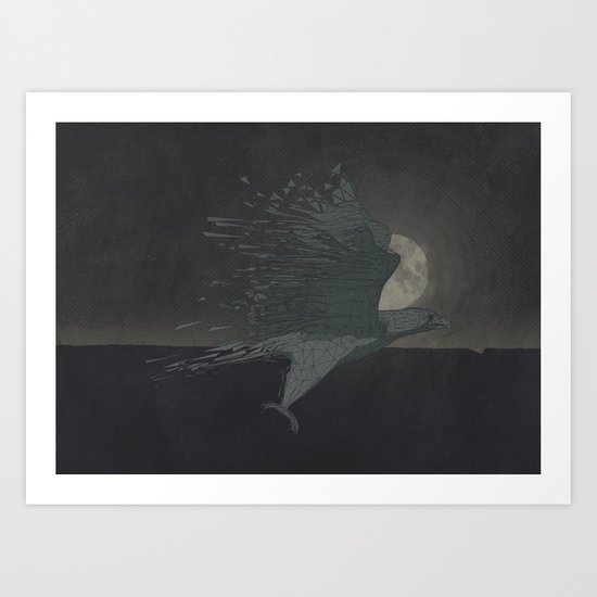 Turbulence at Night Art Print