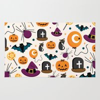 baloon Area & Throw Rugs featuring HALLOWEEN3 by Ceren Aksu Dikenci