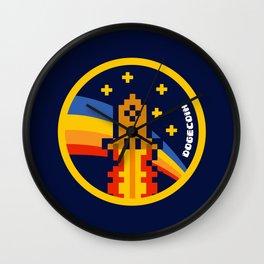 DogeCoin Up Rocket Wall Clock