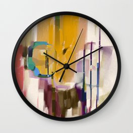 Traveler Among the Spires Wall Clock