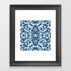 Abstract Collide Blues Framed Art Print