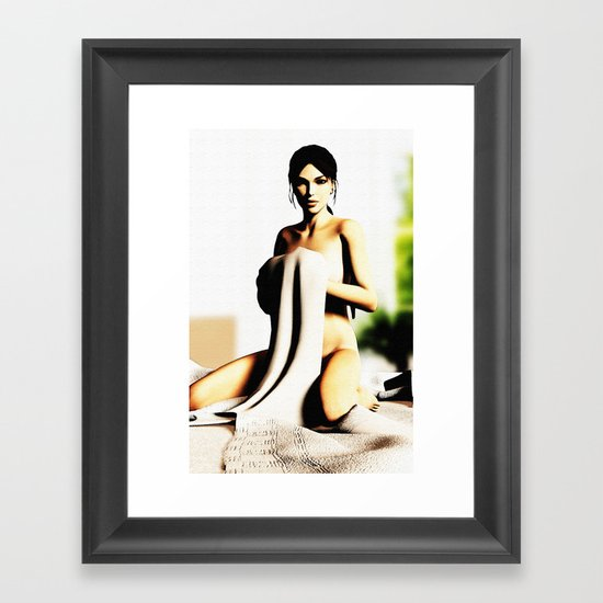 LARA CROFT Framed Art Print