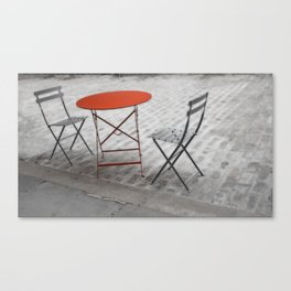 Red Cafe Table NYC Canvas Print