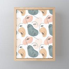 Minimal Figurative Pattern Framed Mini Art Print