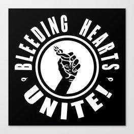 BLEEDING HEARTS UNITE! (negative) Canvas Print
