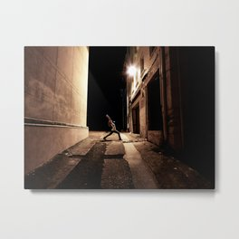 Urban Yoga Metal Print
