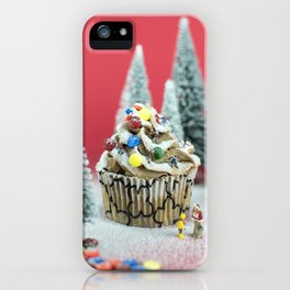Christmas cupcake iPhone Case