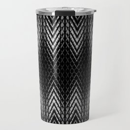 Op-Art Black and White Tribal Arrowhead Pattern Travel Mug