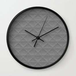 gray grid Wall Clock
