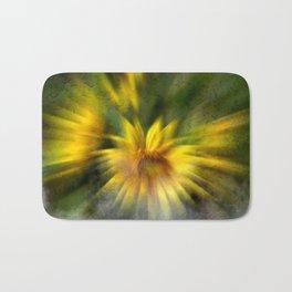 Concept flora : Foggy sunflower Bath Mat