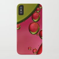 lime green iPhone & iPod Cases featuring Lime Green & Strawberry by Sharon Johnstone