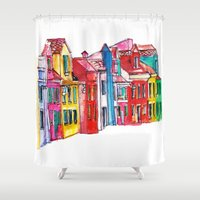 italy Shower Curtains featuring Italy by Dheiuk