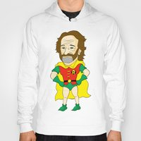 robin williams Hoodies featuring Robin as Robin by Chris Piascik