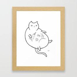 Fatty Catty Framed Art Print