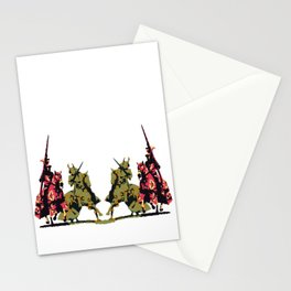 medieval knights with sword and lance Stationery Cards