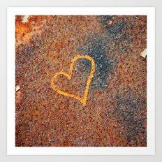 Rusted Heart Art Print