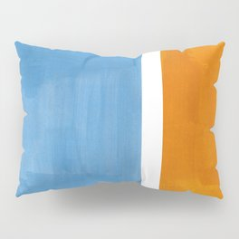 Rothko Minimalist Abstract Mid Century Color Black Square Periwinkle Yellow Ochre Pillow Sham