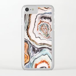 Geode Agate Stone - Nature Clear iPhone Case