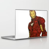 iron man Laptop & iPad Skins featuring Iron Man by DeMoose_Art
