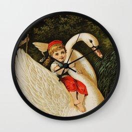 Hansel & Gretel With Swan Wall Clock