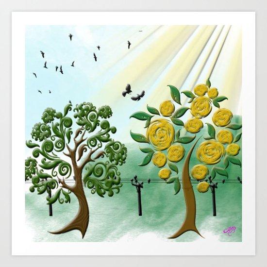 Peach tree Art Print