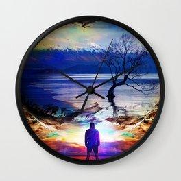 Trough a time portal Wall Clock