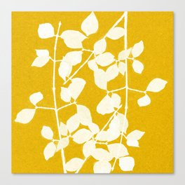white branch on golden tone Canvas Print